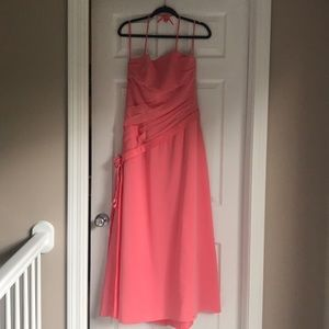 Salmon colored, prom or wedding guest gown size 12